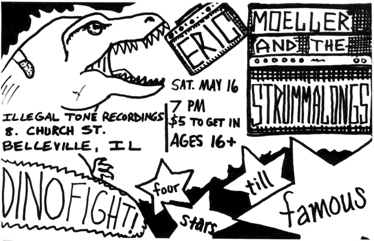 Eric Moeller and the Strummalongs Illegal Tone Recordings show flier - May 16, 2009
